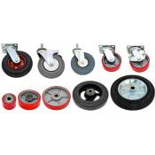 Рулевые колеса и подвилочные ролики для ручных и гидравлических тележек (рохлей)