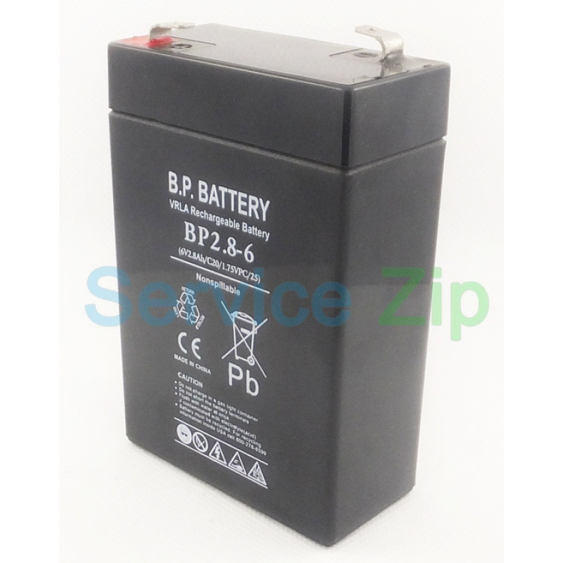 Аккумулятор CA628 (6V 2,8Ah)