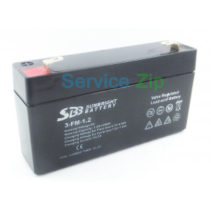 Аккумулятор 3-FM-1.2 (6V 1.2Ah/20HR) SUNBRIGHT BATTERY